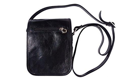 Handle Double With Medium Bag 7624 Shoulder Black wOqIfI8