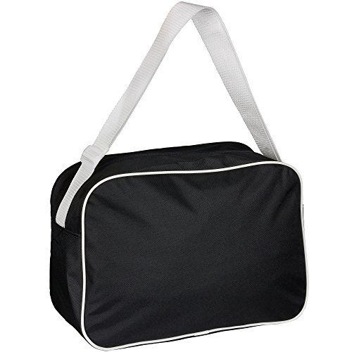 Retrotasche Modern I Love Flag Football schwarz