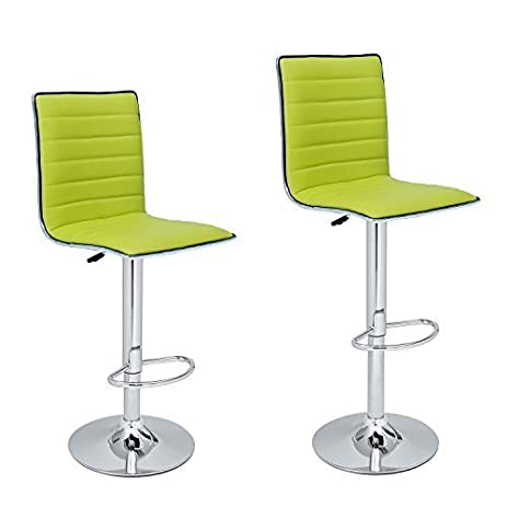 Adeco Lime-green Adjustable Leather Look Horizontal Channel Accents Barstool Chair(Set of  sc 1 st  Amazon.com & Amazon.com: Adeco Lime-green Adjustable Leather Look Horizontal ... islam-shia.org
