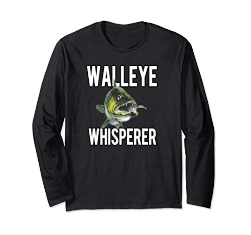 Walleye Whisperer Fishing Jigs Lures Tackle New Pro Walleye Long Sleeve T-Shirt