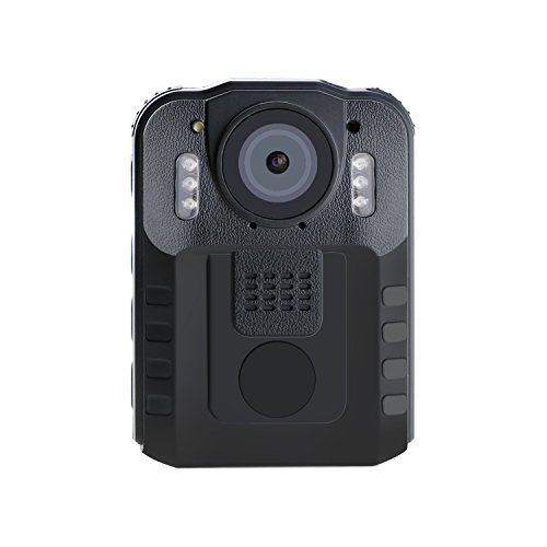 Wordcam Portable Video Recorder for Police Law Enforcement ,Night Vision Security DVR 120 Degree Lens Waterproof Body Worn camera ,with 32 GB External Removable Memory Card Black by Wordcam