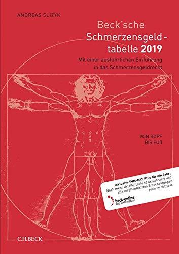 Beck'sche Schmerzensgeld-Tabelle 2019: Von Kopf bis Fuß Taschenbuch – 28. Oktober 2018 Andreas Slizyk C.H.Beck 3406729495 Privatrecht / BGB