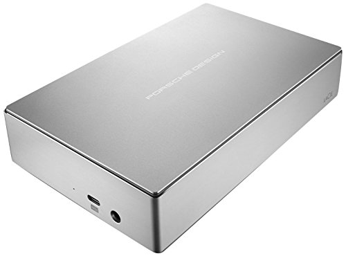 LaCie Porsche Design 8TB USB-C Desktop Hard Drive + 2mo Adobe CC Photography (STFE8000401)