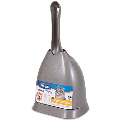 Booda Scoop'N Hide Litter Scoop, Brushed Nickel
