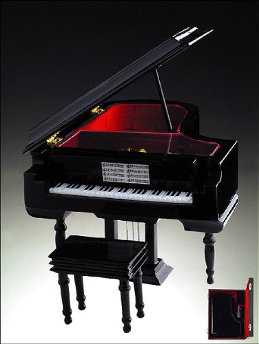 Grand Piano w Jewelry Music Box Musical Instrument BL