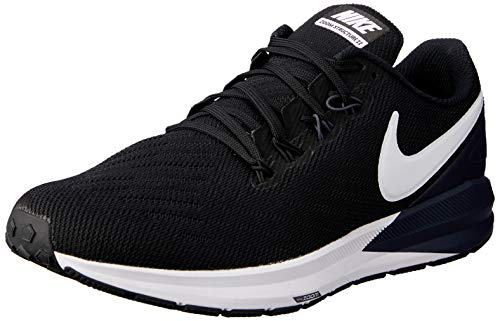 Nike Men's Air Zoom Structure 22 Running Shoe (13 M US, Black/Gridiron/White)