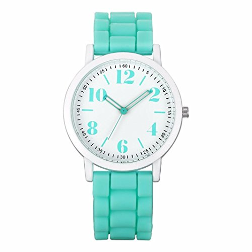 GOTD Ladies Womens  Watches Analog Silica Jelly Gel Quartz Sports Wrist Watch Gift (Green - Green Wellington Hours