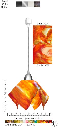 (Signature 1 Light Flame Track Light Size: Small, Finish: Nickel, Shade Color: Zinnia)
