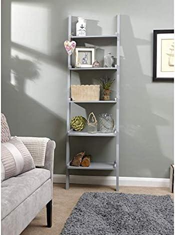 Home Source - Estantería para escalera de 5 estantes, soporte para adornos decorativos modernos, Mdf/aglomerado, gris, 189 X 32.5 X 56 cm: Amazon.es: Bricolaje y herramientas