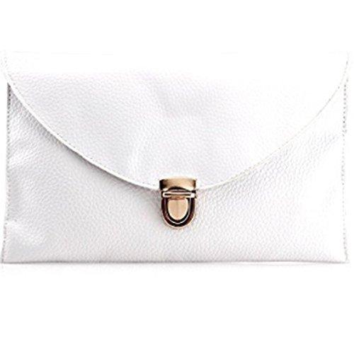 Amaze Fashion Women Handbag Shoulder Bags Envelope Clutch Crossbody Satchel Tote Purse Leather Lady Bag (White) by Amaze (Image #4)