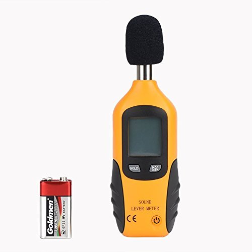 TOOLTOO Decibel Meter - Large LCD Screen Display Portable Sound Level Meter Tester 30dB-130dB, Orange
