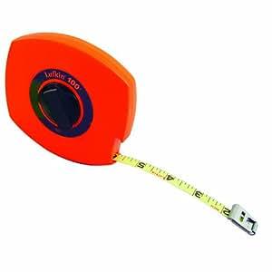Lufkin 100 L - Cinta métrica en pulgadas, acero, gran visibilidad, 30,5 m