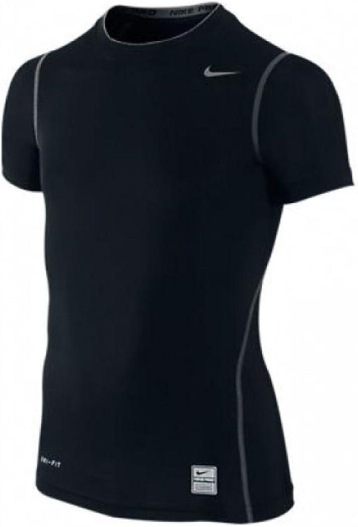 Large Black Nike Pro Core Boys Training Compression T-Shirt