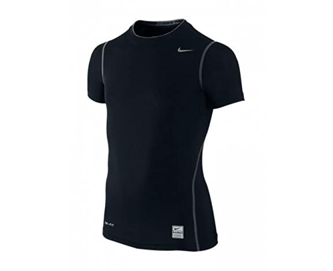 Nike Youth Pro Core Compression SS Tee Black Small: Amazon.es ...