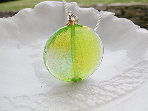 Green Dichroic Murano Glass (Dichroic Glass Necklace)