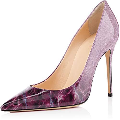 Aiguille 10cm Femme Chaussures Elashe Talon Éclair Stiletto Soir Sexy Fête Escarpins SqXSxHwEB