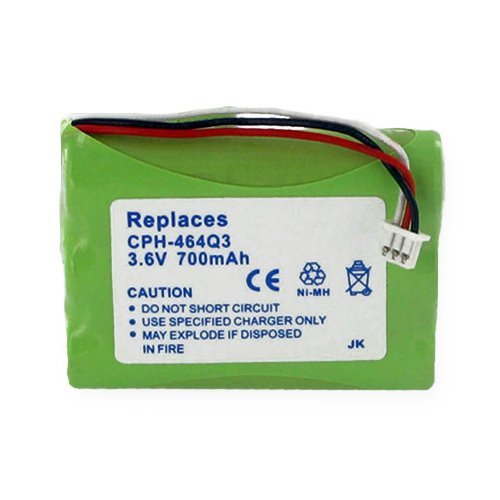 NEC 730631 Cordless Phone Battery Ni-MH, 3.6 Volt, 700 mAh - Ultra Hi-Capacity - Replacement for Uniden BT-930 Rechargeable Battery ()
