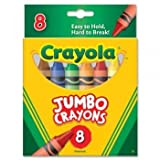 Crayola 8-Pack Crayons – Jumbo (So Big) Size (Single Box), Baby & Kids Zone