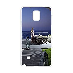 {Funny Series} Samsung Galaxy Note 4 Case Summer Evening, Protective Case Okaycosama - White