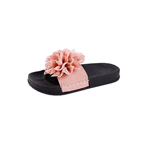 Normale Pantofole Di Legno Sandalo La Zehe Lacca Wawer Spiaggia Donne Pizzo Rotonda Tallone Scarpe Per Pink piatta Fiori Cq7WvFt5v
