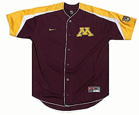 size 40 fdd9f 7743a Amazon.com   Nike Minnesota Golden Gophers College Power Alley Tackle Twill  Embroidered Baseball Jersey (M 40)   Sports Fan Jerseys   Sports   Outdoors