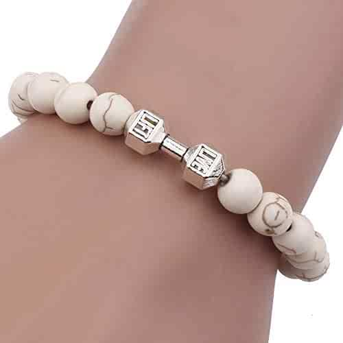 Aooaz Copper Bracelet Womens Girls Shell Flower Link Bracelet White Wedding White 17.5CM