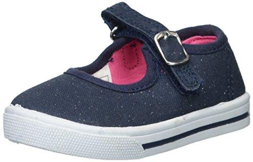 Stripe Navy Shoe Blue Flat (OshKosh B'Gosh Lola Girl's Casual Mary Jane Flat, Navy, 3 M US Little Kid)