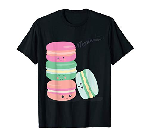 Paris France Souvenir Macarons Cookie Kawaii Vintage Gift T-Shirt