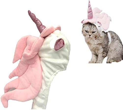 Lanyarco Cute Unicorn Costume Halloween Accessory for Cats Small Pets 13
