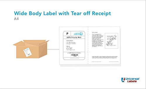 Ups Packing Slip (XL Click Ship Labels with Built in Receipt. Wide Body Label with Easy Tear Off Receipt. Print Online Postage. 100 Sheets.)