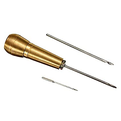 Canvas Leather Tent Sewing Awl Brass Hand Stitcher Leathercraft Needle Kit Tool