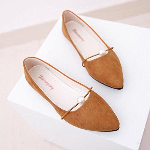 Marron Plates 5 39 Marron Femme Chaussures wuayi tAqxZBA