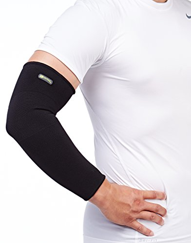 SENTEQ Arm Compression Sleeve - Medical Grade & FDA Approved. Full Arm Anti-slip Elbow Sleeve for Cycling Hiking Golf Basketball Driving Outdoor Sport (SQ5 H010 M) by SENTEQ