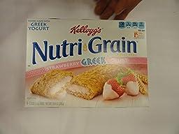 Kellogg\'s Nutri-Grain Strawberry Greek Yogurt Bars, 10.4-Ounce Boxes (Pack of 3)
