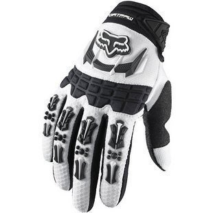 Fox Racing Dirtpaw Men's Off-Road/Dirt Bike Motorcycle Gloves - Color white, Size: (Dirtpaw Bike Glove)