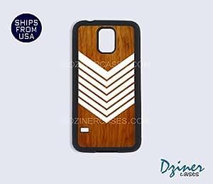 Galaxy S4 Heavy Duty Tough Case Cover - White Arrow Wood Print Native American