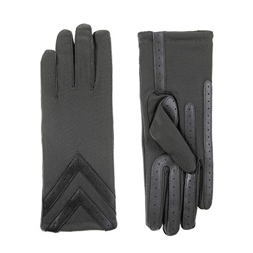 (isotoner Spandex Stretch Women's Gloves, Touchscreen, Charcoal, L/XL )