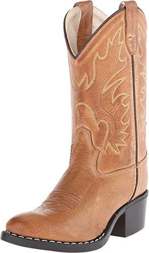 Old West Kids Boots Unisex J Toe Western Boot (Toddler/Little Kid) Tan Canyon 1 M US Little Kid