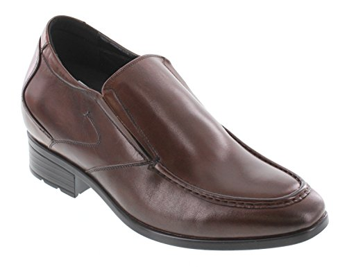 Toto A11352-3.6 inches Taller - height Increasing Elevator Shoes - Cordovan Dark Brown Slip-On Dress Shoes TAsHsYe