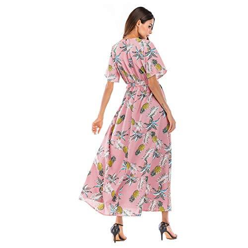 Bodycon Maniche Dress Da Abiti Scollo Womens Di Donna Senza s Sexy Gaoyixin Chiffon Aderente V Party Sera Elegante Gonna Floreale Profondo Spiaggia EZw4FOxqx