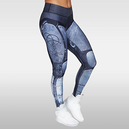 Abbigliamento Wear fitness Cybers Pantaloni anarchico Legging Team Mma Pantaloni Compressione Fgqq1