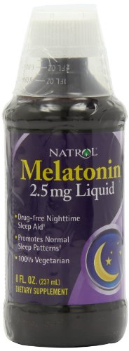 Natrol Melatonin Liquid, 2.5mg, 8oz; with Cup - Natrol Liquid Melatonin