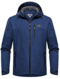Men's Lake Waterproof Raincoat Windbreaker Lightweight Packable Rain Jacket