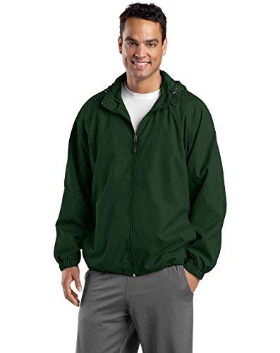 (Sport-Tek Men's Hooded Raglan Jacket XL Forest Green)
