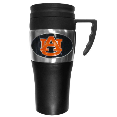 - College NCAA Auburn Tigers Steel Travel Mug with Handle