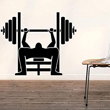 Etiqueta engomada del Gimnasio de Fitness Barbell Crossfit ...