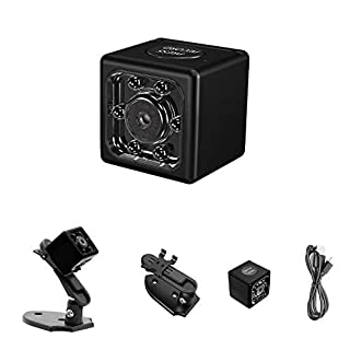 Mini Spy Camera 1080P Hidden Camera, Small Spy Camera with Audio and Video Recording, Surveillance Camera Nanny Camera Spy Cam Night Vision & Motion Detection for Security Outdoor Indoor