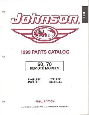 1999 JOHNSON OUTBOARD 60, 70 HP PARTS MANUAL (70 Hp Parts Manual)