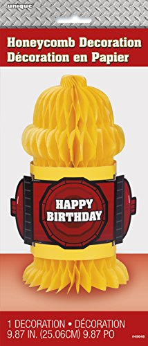 Hydrant Shaped Truck Birthday Decoration