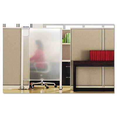 Premium Workstation Privacy Screen, 38w x 65d, Translucent Clear/Silver, Sold as 1 Each
